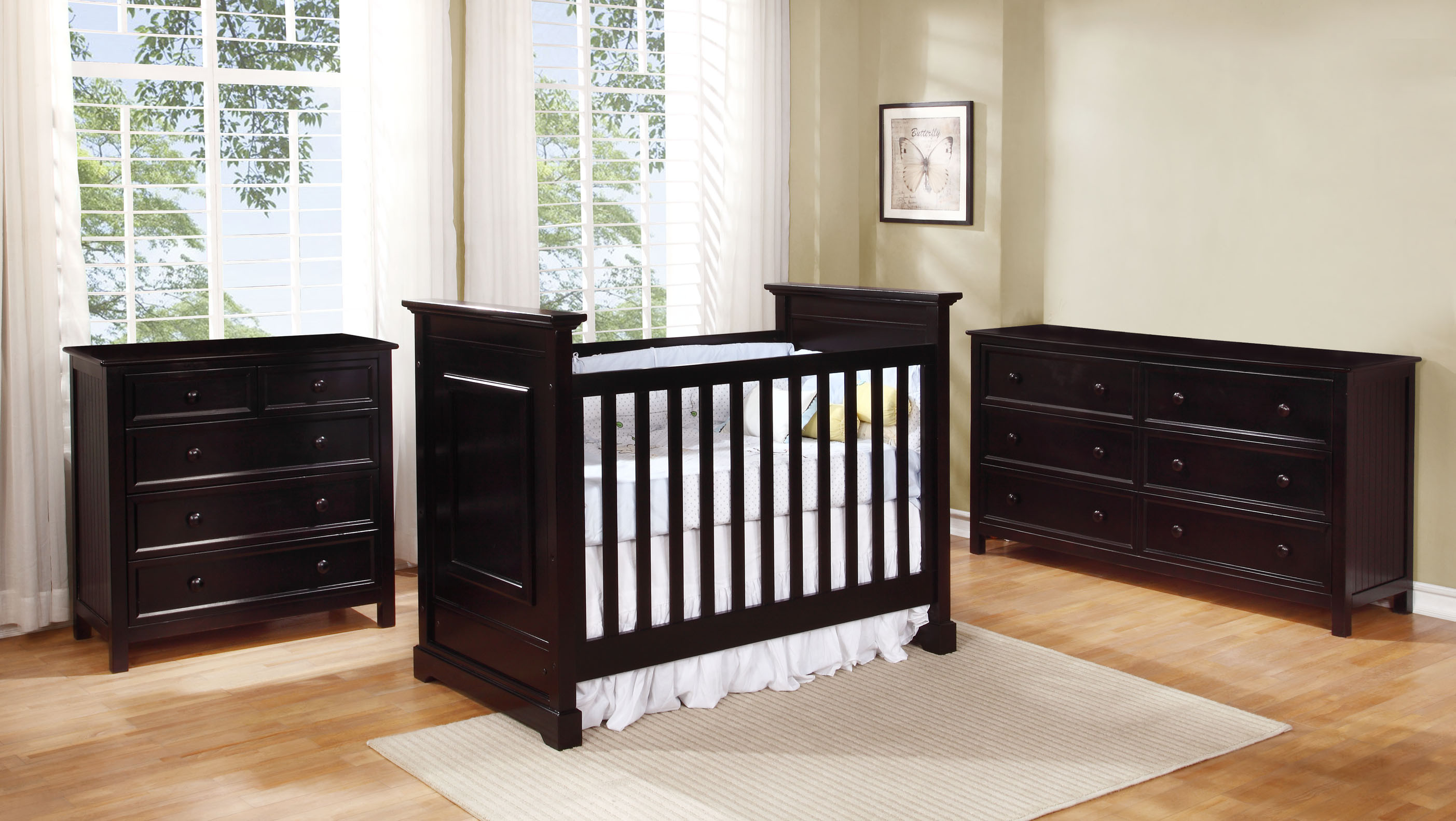 Waterford Classic Crib with Summerlin Collection Espresso