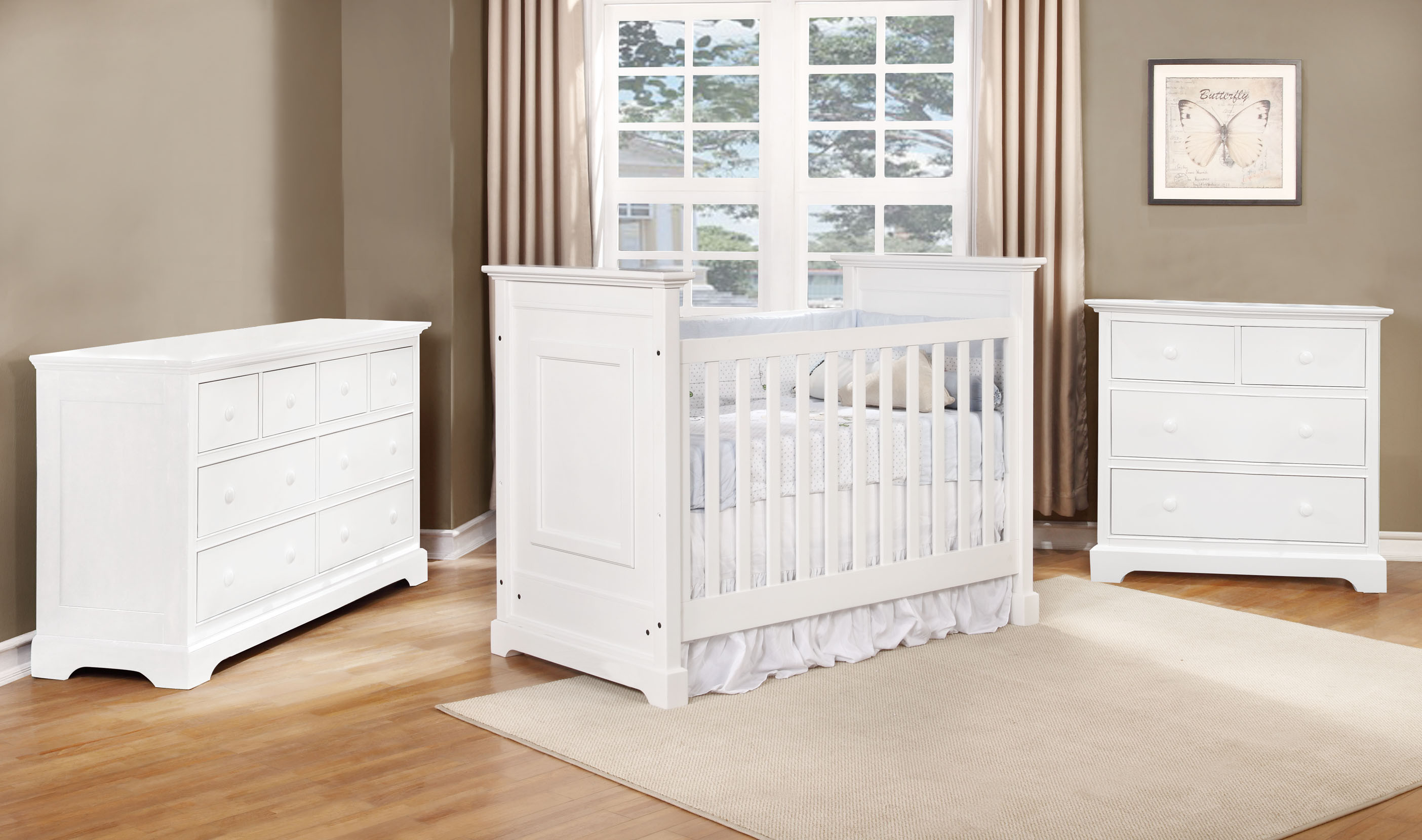Waterford Classic Crib with Waterford Collection White