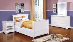 Ashton Twin Bed with Waterford Collection White