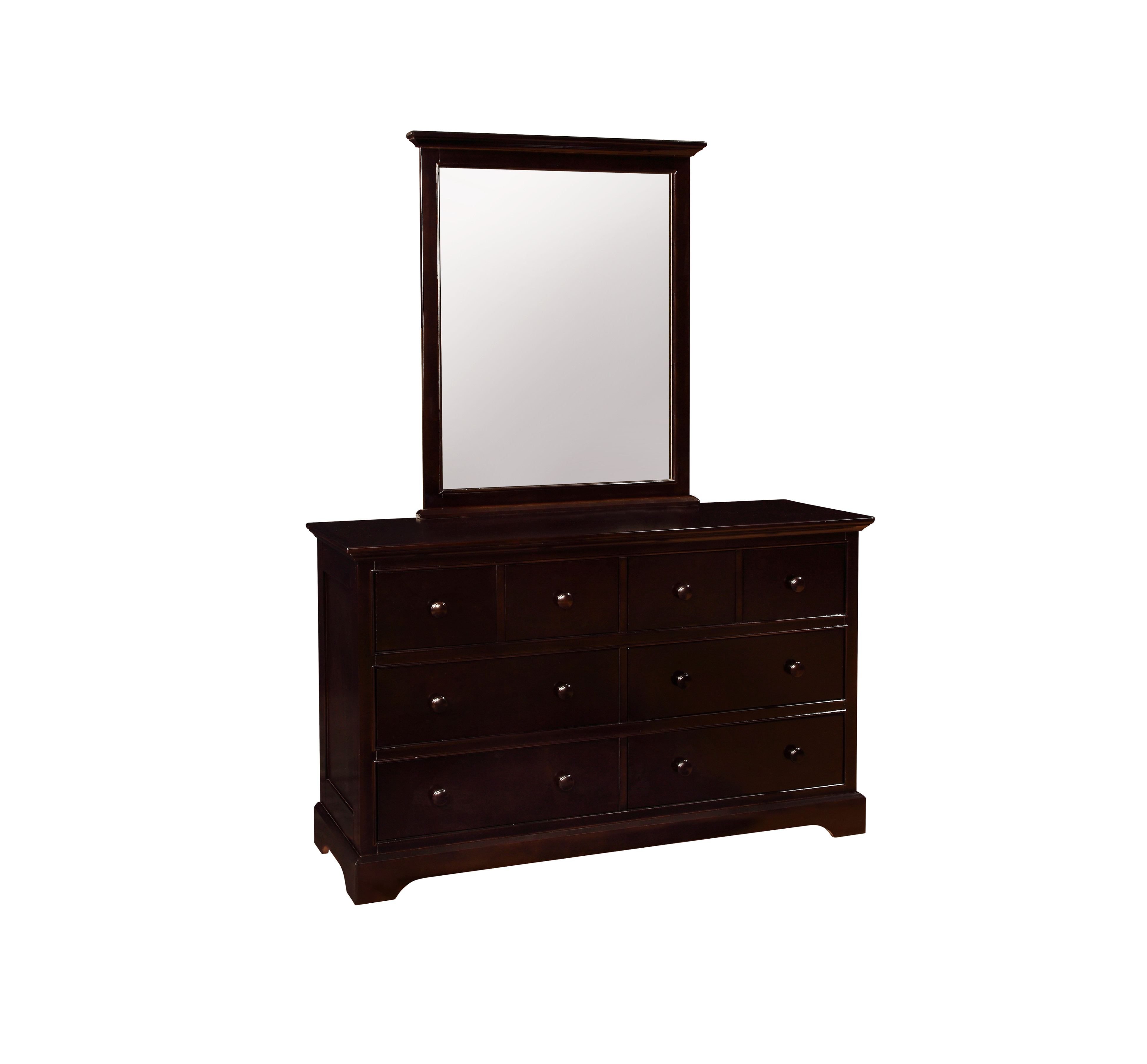Waterford 8 Drawer Dresser with Mirror Espresso