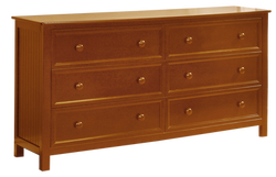 Summerlin 6 Drawer Dresser Rustic Pecan
