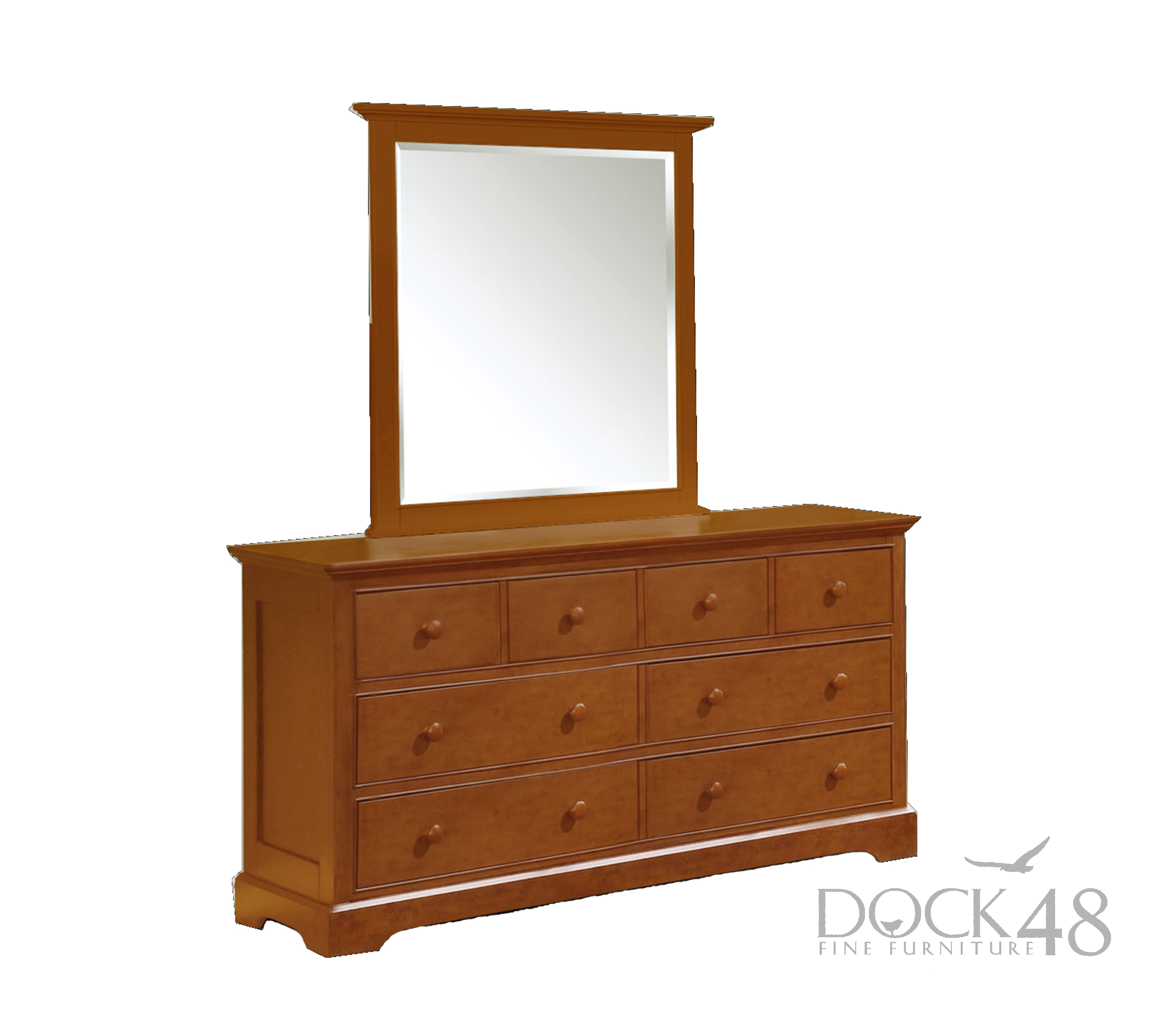 Waterford 8 Drawer Dresser with Waterford Mirror Rustic Pecan