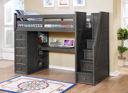 Multifunction Desk Option Weathered Grey 1