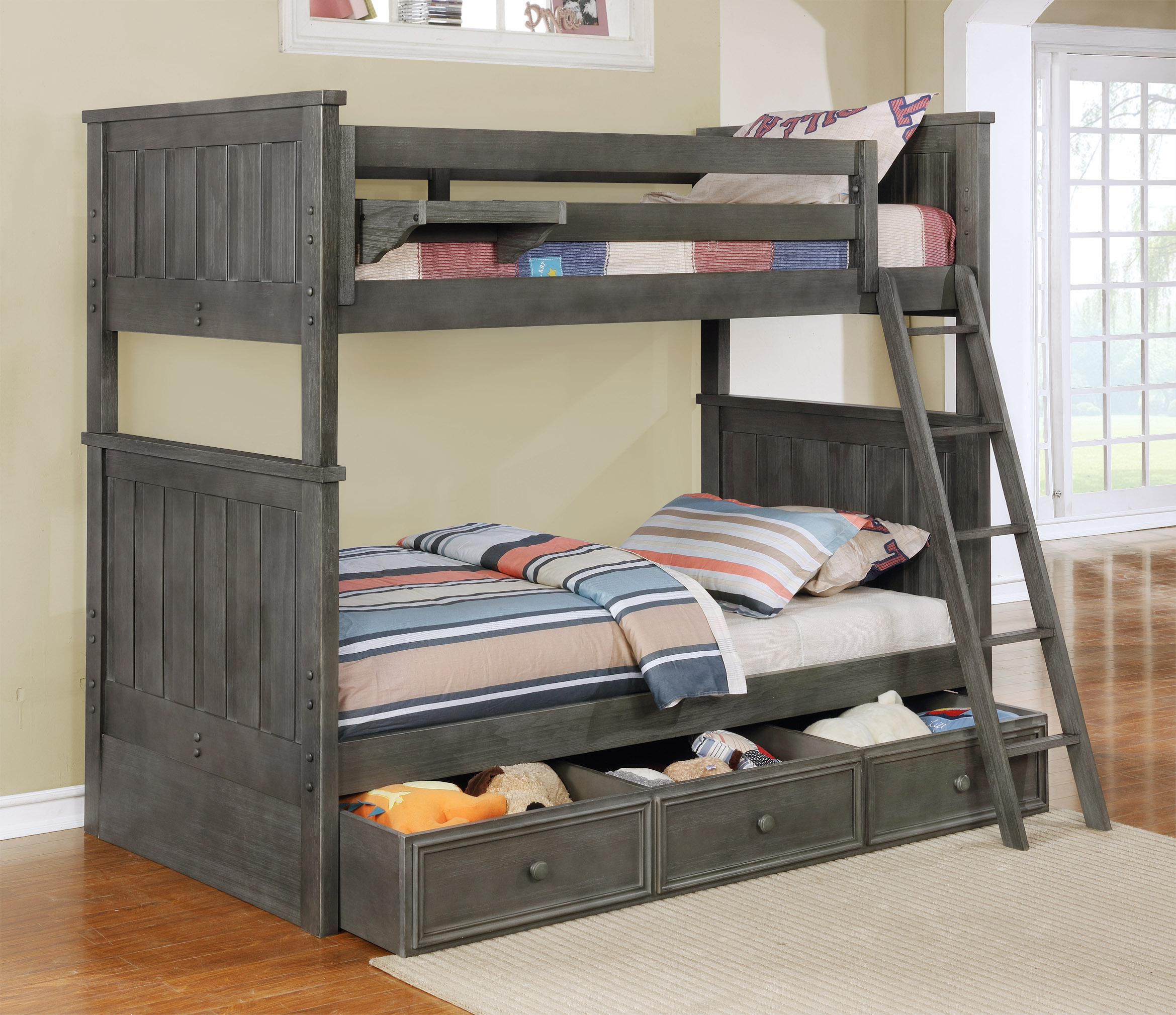 Jordan Twin over Twin Bunk Bed with Summerlin Trundle