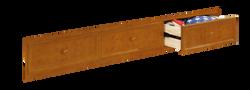 Sideways 3 Drawer Storage Rustic Pecan