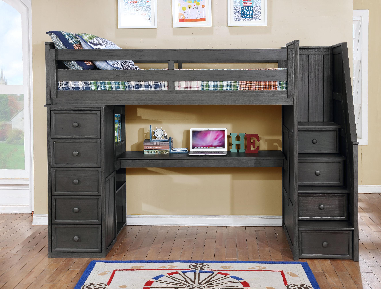 Multifunction Desk Option Weathered Grey 2
