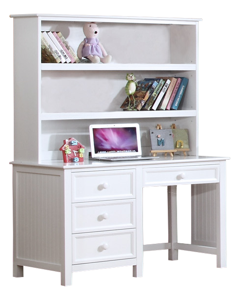 Summerlin Desk with Hutch White