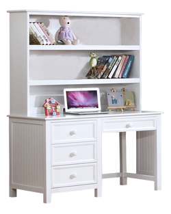Summerlin Desk with Hutch White