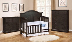 Waterford Curved Panel Toddler Bed Conversion Kit with Waterford Collection Graphite Grey