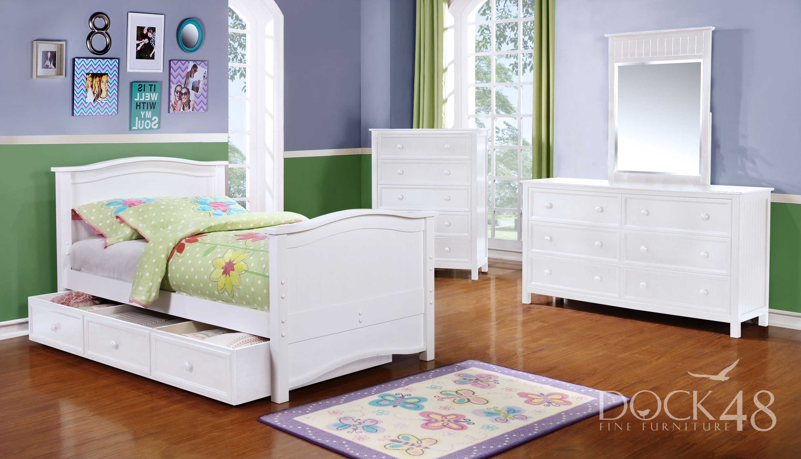 Ashton Twin Bed with Summerlin Collection White