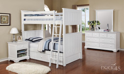 Jordan Twin over Twin Bunk Bed with Waterford Collection White