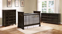 Waterford Classic Crib with Waterford Collection Graphite Grey