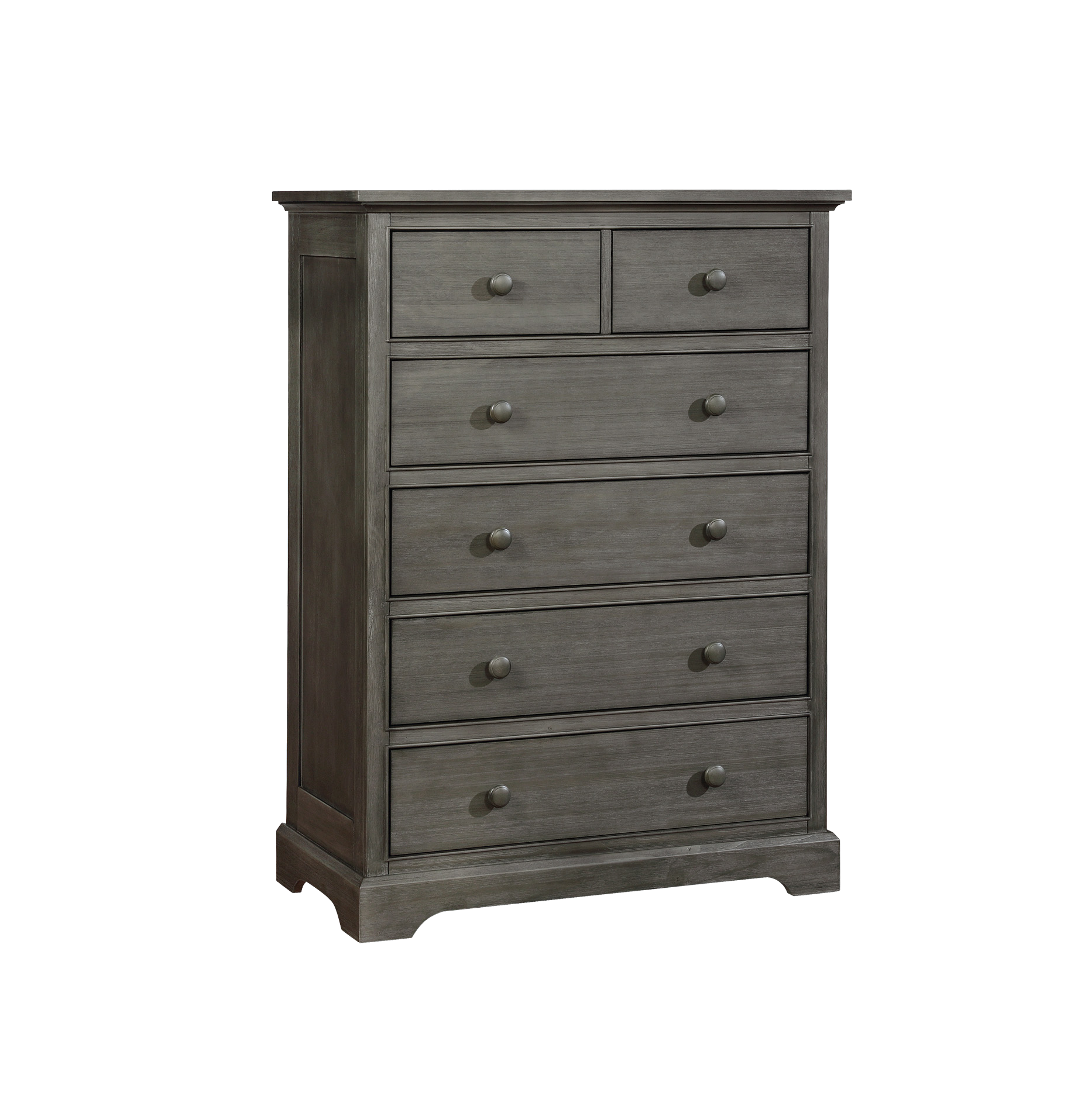 Weathered 6 Drawer Chest Weathered Grey