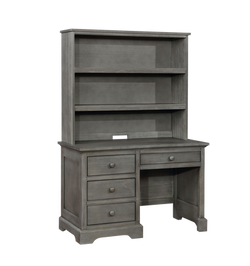 Waterford Desk with Waterford Hutch Weathered Grey