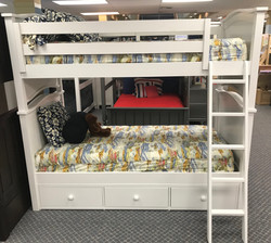 Ashton Twin over Twin Bunk Bed with Ladd