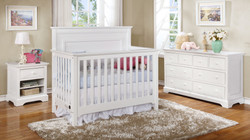 Waterford Panel Conversion Crib with Waterford Collection White