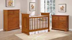 Waterford Classic Crib with Waterford Collection Rustic Pecan