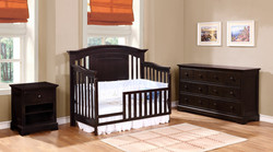 Jordan Toddler Bed Conversion Kit with Waterford Collection Espresso