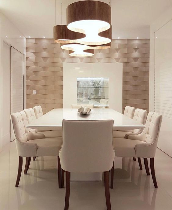Sala de jantar com pendente. Projeto: Max Mello.