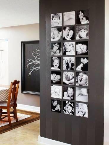Fotos na parede.