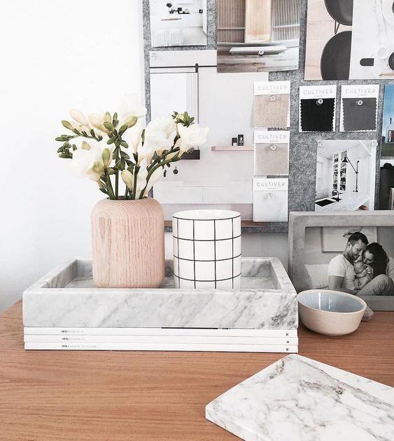 Adornos de mármore. Foto: Urban Couture Design.