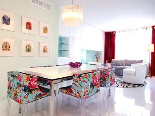 Cadeiras revestimento floral