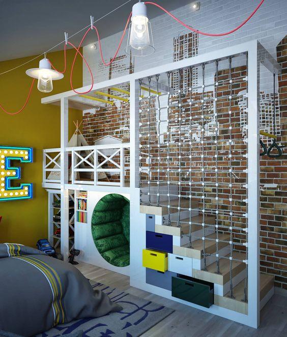 Brinquedoteca para aventureiros. Projeto: Sweet home design.