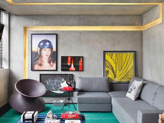 Sala de estar moderna.