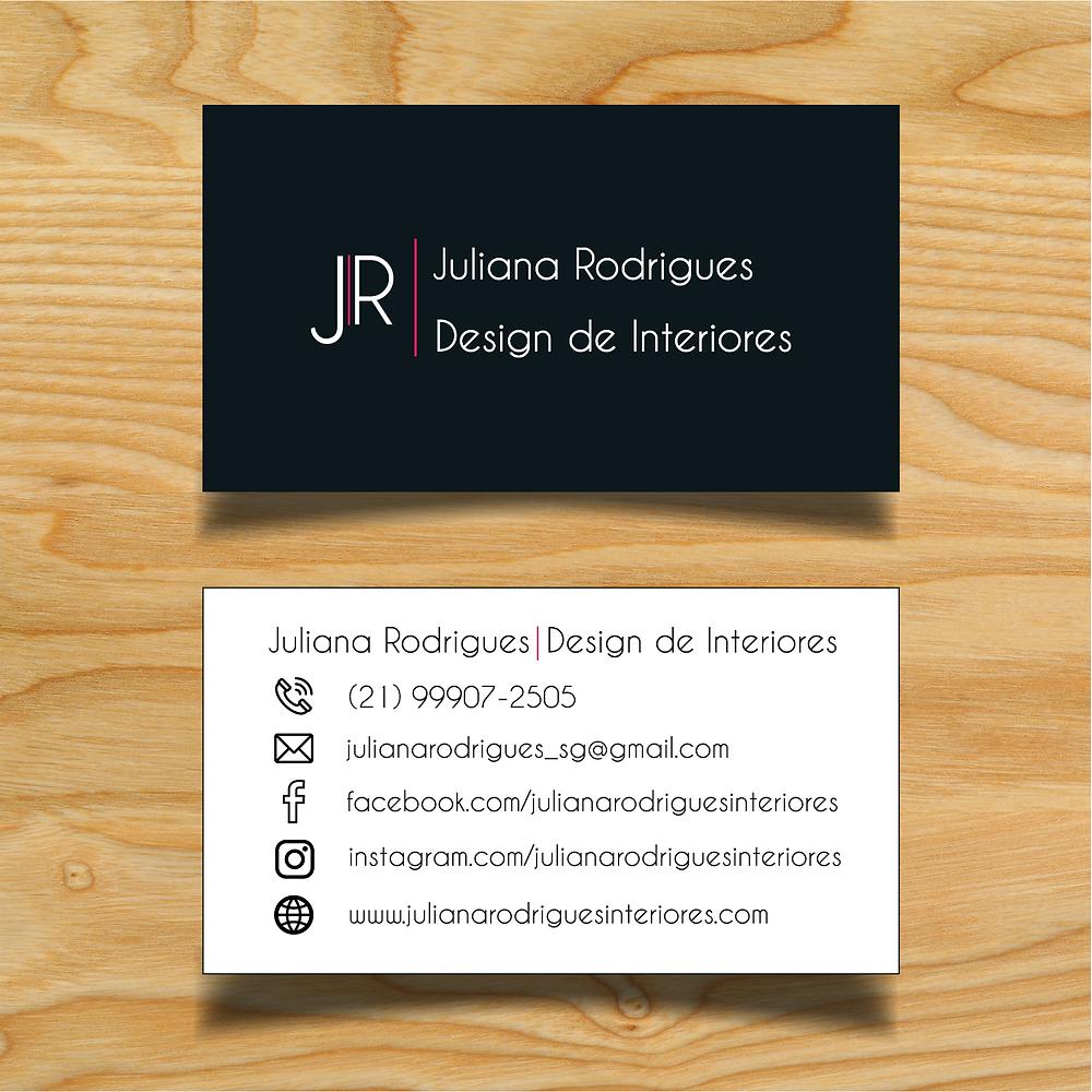 Cartão de visita Juliana Rodrigues Interiores