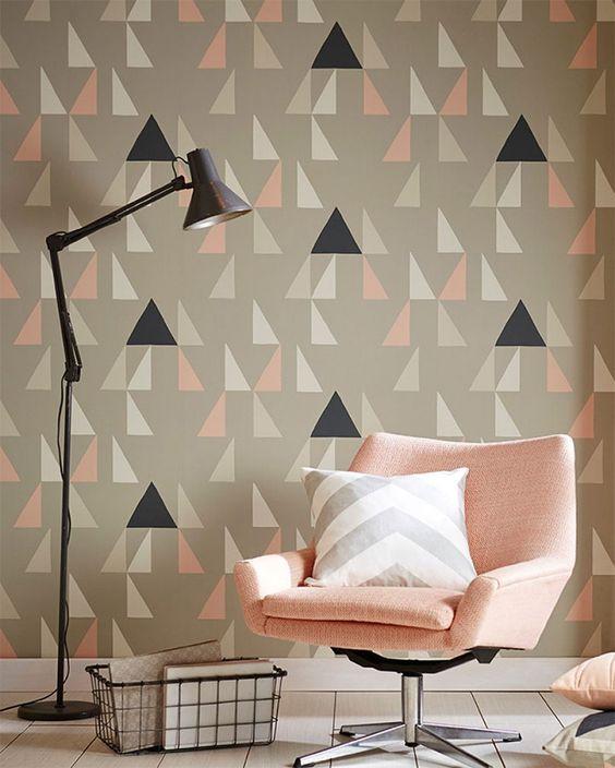 Papel de parede geométrico.