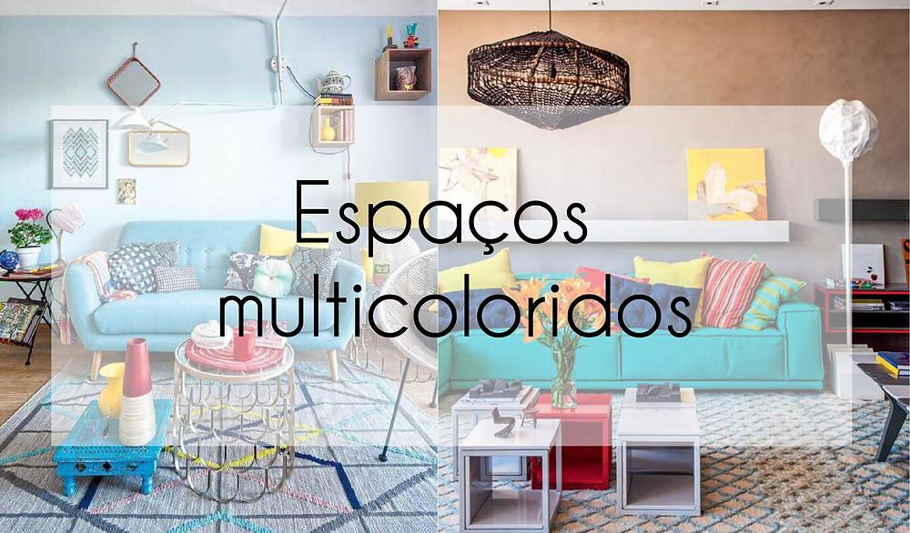 Espaços multicoloridos