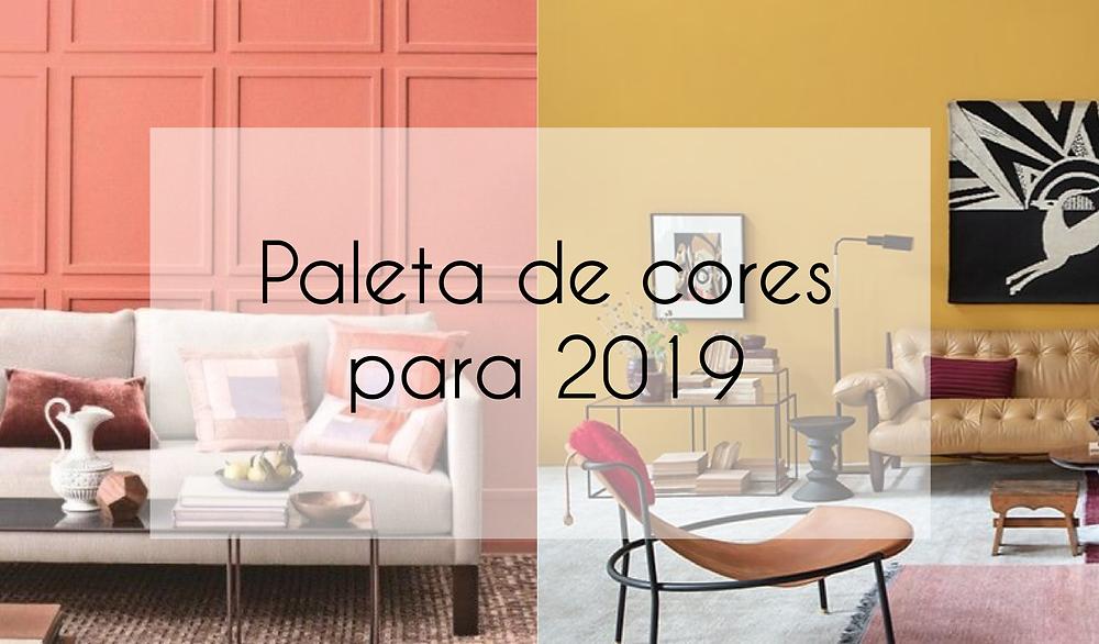 Paleta de cores para 2019