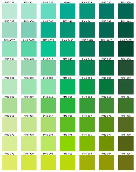 Tons de verde.
