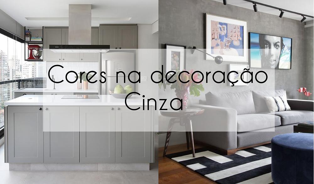 Cores na decoração - Cinza