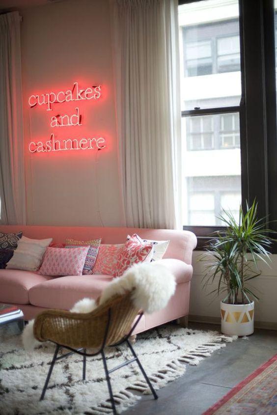 Letras neon sala