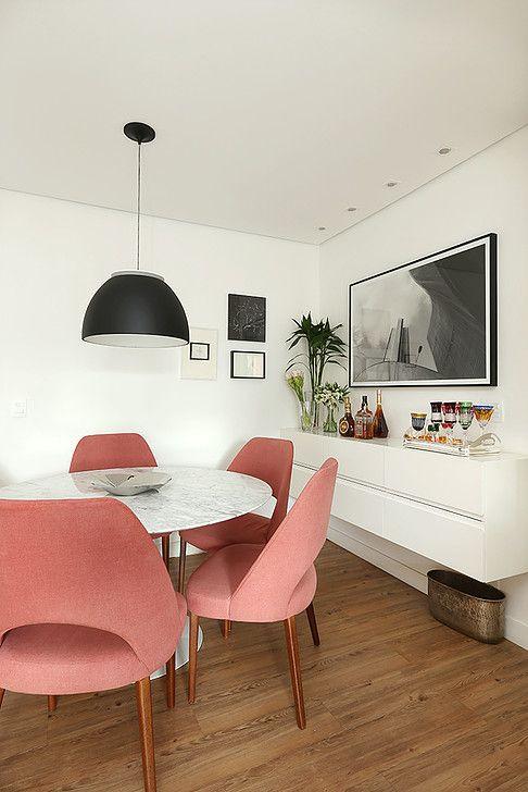 Sala de jantar decorada. Projeto: Casa2arquitetos.