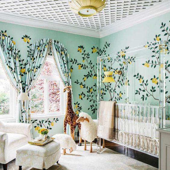 Quarto verde. Foto: Dina Bandman Interiors.