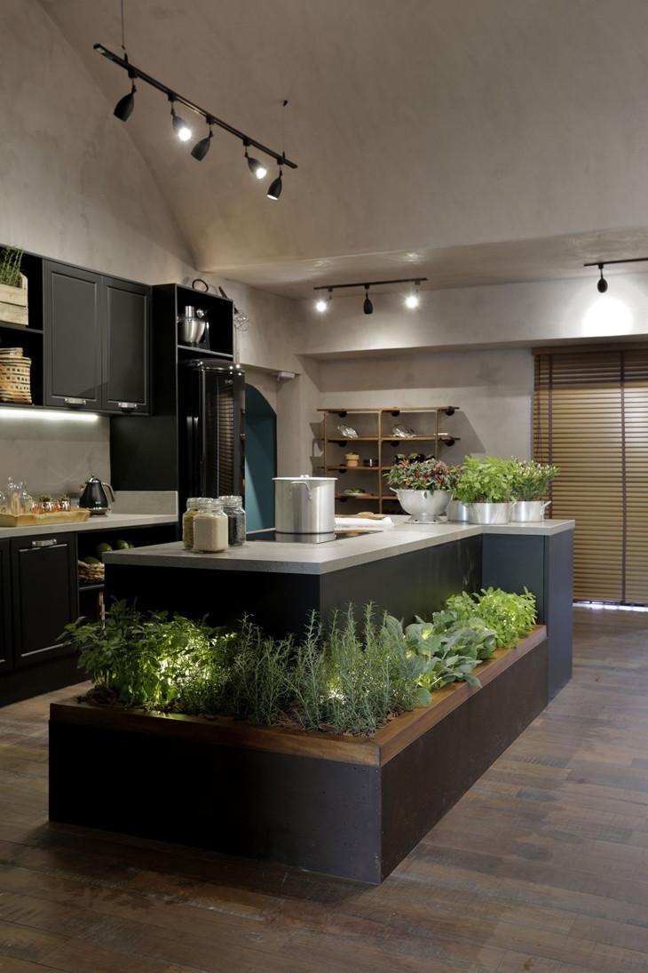 Horta na cozinha Projeto: Érica Salguero