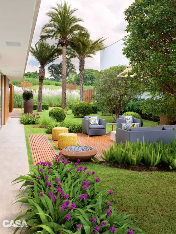 Estar no jardim. Projeto: Mara Chap Chap.