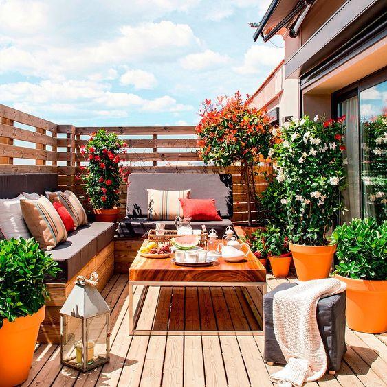 Varanda no terraço.