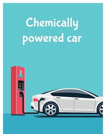 Chemically powered car