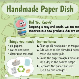 Handmade Paper Dish
