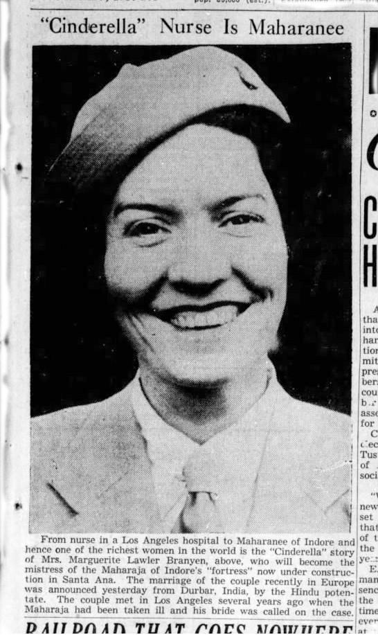 Mrs. Marguerite Lawler Branyen, the seond Maharanee