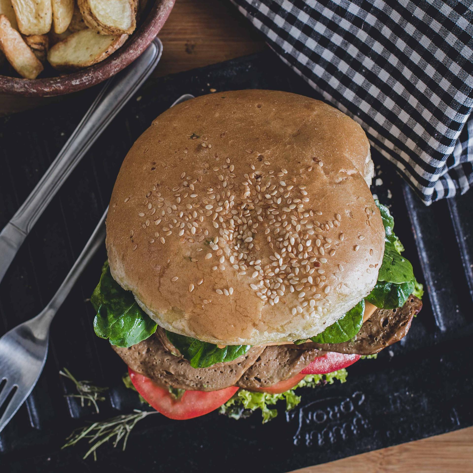 foodstyling - claudiography.com -  Fotografía Publicitaria - Hamburguesa Seitán