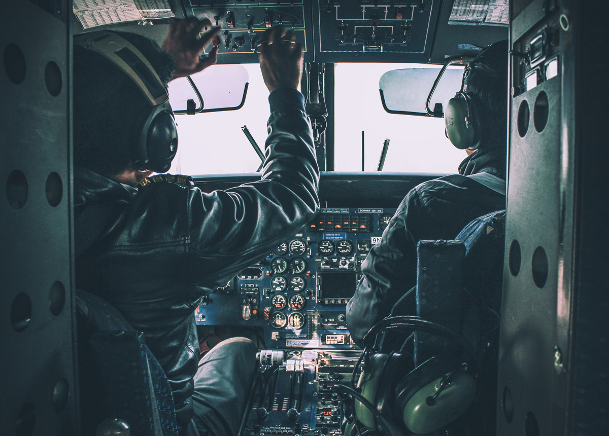 Plane & Pilots - Lukla Airport Nepal - H