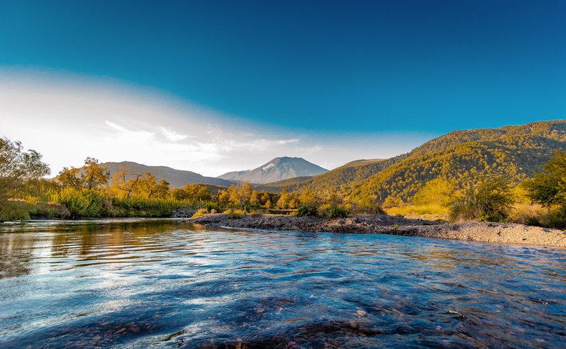 Río Cautín y volcán Lonquimay - Claudio Ramírez fotógrafo de naturaleza y paisajes, outdoor and nature photographer - Naturaleza chilena