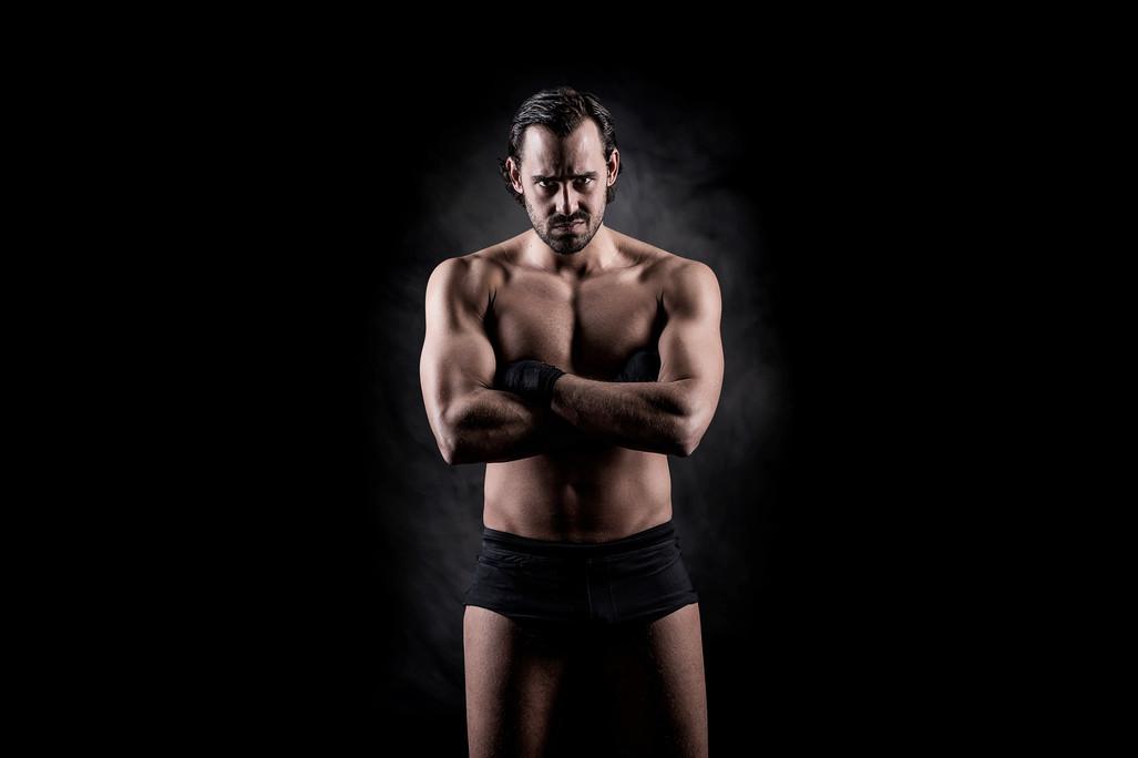 Retrato Ariel Levy - Lucha Libre - Pro Wrestling