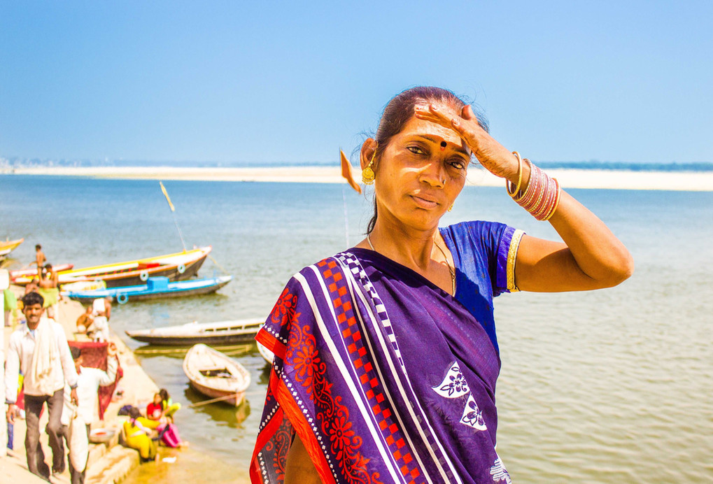 Mujer en Varanasi - India - Portrait of a woman in Varanasi