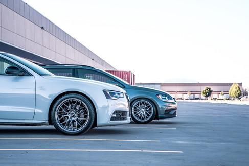 Rosco Wheels Ace hyper black rims for Volkswagen golf gti golfr audi a3 s3 a4 s4 a5 s5 in 5x112