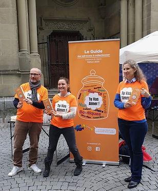 la team du guide Tu Vas Aimer! Lausanne